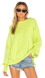 Free People Easy Street Tunic In Green. Lime