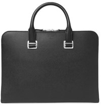 Dunhill Cadogan Pebble Grain Leather Briefcase Black