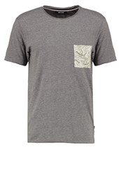 Only And Sons Onsthor Print Tshirt Medium Grey Melange Loden Green