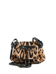 Jerome Dreyfuss Twee Mini Messenger Calf Hair Leopard