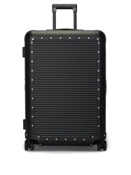 Fabbrica Pelletterie Milano Bank Spinner 68 Check In Suitcase Black