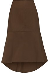 Marni Flared Cotton Skirt Brown