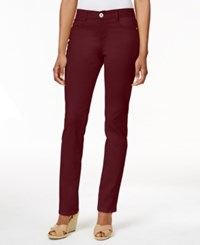 Styleandco. Style And Co. Petite Slim Leg Tummy Control Jeans Deep Scarlet