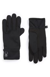 Men's Spyder 'Power' Gloves Black Polar