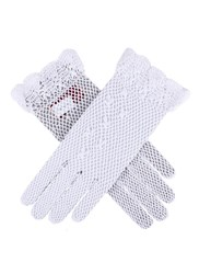Dents Ladies Cotton Crochet Gloves White