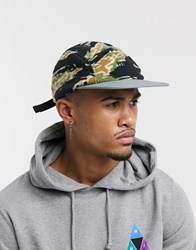 Huf Boroughs Volley Hat In Camo Green