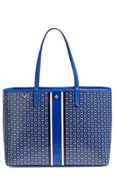 Tory Burch Gemini Link Tote Blue Jewel Blue Gemini Link Stripe