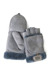 Australia Luxe Collective Genuine Shearling Trim Convertible Mitt Gray