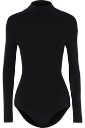 Yummie Tummie Madelyn Stretch Jersey Turtleneck Bodysuit Black