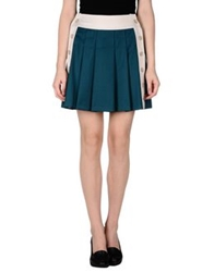 Divina Mini Skirts Deep Jade