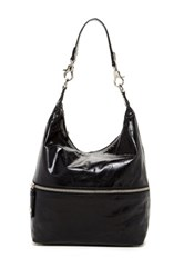 Hobo Jude Leather Shoulder Bag Black