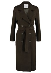 Minimum Jea Classic Coat Dark Forrest Brown