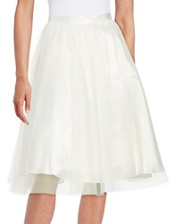 Marina Tulle A Line Skirt Ivory