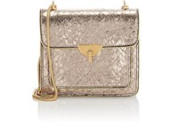 Dries Van Noten Snake Embossed Patent Leather Chain Bag Silver