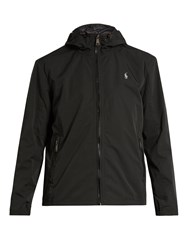 Polo Ralph Lauren Water Resistant Nylon Hooded Jacket Black