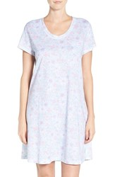 Carole Hochman Women's Print Cotton Sleep Shirt Soft Floral