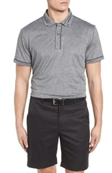 Bobby Jones R18 Tech Chapman Welded Trim Polo Charcoal Heather