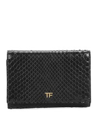 Tom Ford Saffiano Flap Line Wallet Black