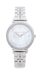 Michael Kors Cinthia Watch Silver Mother Of Pearl