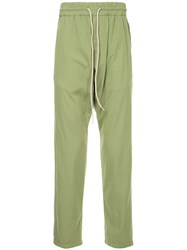 Bassike Tapered Trousers Green