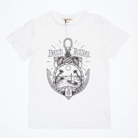 French Trotters Tropical Ancre T Shirt White Www.Atoo.Co.Uk