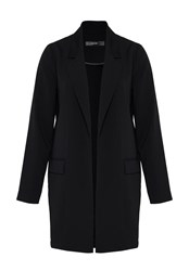 Hallhuber Long Blazer With Open Front Black