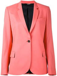 Paul Smith Ps By One Button Blazer Women Acetate Viscose Wool 42 Pink Purple