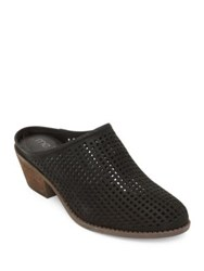 Me Too Zara Perforated Leather Mules Black
