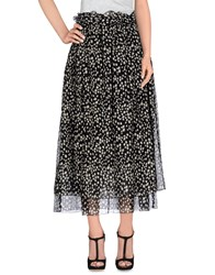 Ottod'ame Skirts 3 4 Length Skirts Women Black