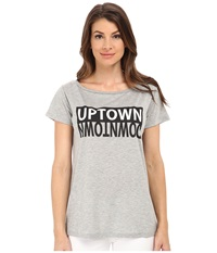 Rebecca Minkoff Up Downtown Tee Grey Women's T Shirt Gray