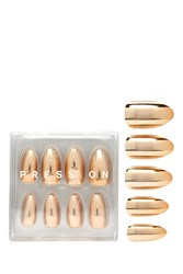 Forever 21 Metallic Press On Manicure Gold