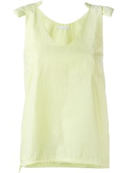 Societe Anonyme Shoulder Pad Tank Yellow And Orange