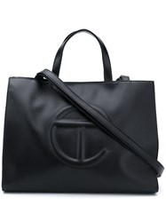 Telfar Embossed Logo Tote Bag Black