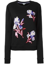 Kenzo Floral Embroidered Sweatshirt Black