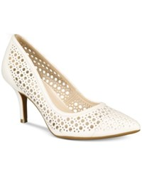 Alfani Women's Step 'N Flex Jennah Perforated Pumps Only At Macy's Women's Shoes Cotton