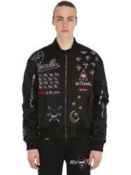 Haculla Nocturnal Embroidered Bomber Jacket Black