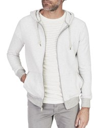 Faherty Saturday Zip Front Hoodie Sweatshirt Gray