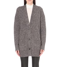 French Connection Belle Knitted Cardigan Dark Grey Mel