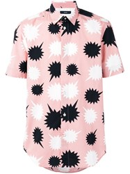 Diesel Speech Balloons Print Shirt Pink Purple