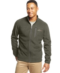 Greg Norman For Tasso Elba Big And Tall 5 Iron Performance Full Zip Golf Fleece Jacket Only At Macy's Sierra Taupe