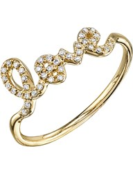 The Alkemistry Sydney Evan Love Script 14Ct Yellow Gold And Diamond Ring