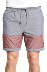Men's Volcom 'Threezy Jammer' Hybrid Colorblock Shorts Navy