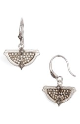 Armenta New World Half Circle Pointed Pave Earrings Silver
