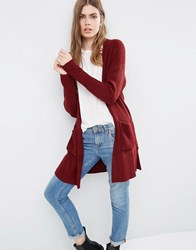 Asos Ultimate Chunky Cardigan Dark Red