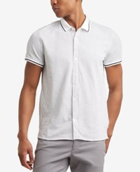 Kenneth Cole Reaction Men's Triangle Print Shirt White