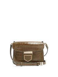Givenchy Nobile Mini Crocodile Effect Cross Body Bag Green