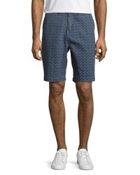 Jachs Ny Printed Relaxed Fit Shorts Blue