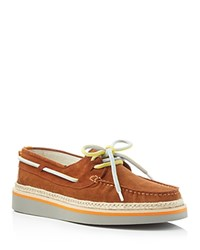 Msgm Lace Up Espadrille Boat Shoes Brown