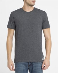 Element Charcoal Crew Round Neck T Shirt Grey