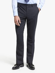 Paul Smith Wool Stretch Tailored Fit Suit Trousers Navy